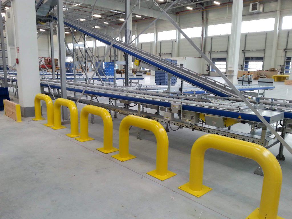 Odbojniki magazynowe zabezpieczające wyposażenie hali - sprzedaż, montaż, serwis, wykonanie na zamówienie wg projektu