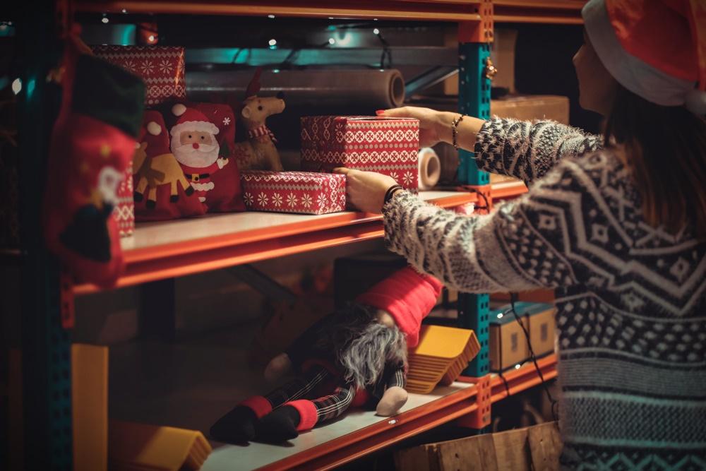 Regały półkowe - święta Bożego Narodzenia